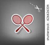 tennis racquets sign. vector.... | Shutterstock .eps vector #626626334