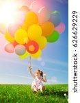 balloons for the birthday... | Shutterstock . vector #626629229