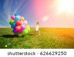 balloons for the birthday... | Shutterstock . vector #626629250