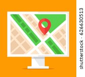 information stand with city map ... | Shutterstock .eps vector #626630513