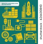 industry and building icon set... | Shutterstock .eps vector #626630840