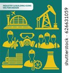 industry and building icon set... | Shutterstock .eps vector #626631059