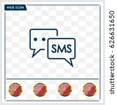 sms sign icon | Shutterstock .eps vector #626631650