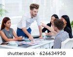group of businesspeople looking ... | Shutterstock . vector #626634950