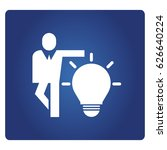 business man and light bulb... | Shutterstock .eps vector #626640224