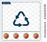 sign waste processing  web icon.... | Shutterstock .eps vector #626640248