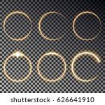 glow circle light effect. round ...   Shutterstock .eps vector #626641910