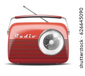 red vintage radio. vector... | Shutterstock .eps vector #626645090