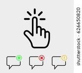 click icon stock vector...