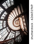 spiral staircase looking up... | Shutterstock . vector #626651969