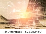 stock market or forex trading... | Shutterstock . vector #626653460