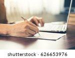 close up hand business man... | Shutterstock . vector #626653976