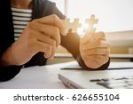 business woman hands connecting ... | Shutterstock . vector #626655104