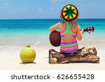 little happy baby in rastaman... | Shutterstock . vector #626655428