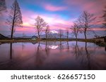mt.fuji in the sunset at... | Shutterstock . vector #626657150