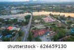 aerial photo beautiful pagoda... | Shutterstock . vector #626659130