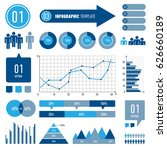 set of infographics elements.... | Shutterstock .eps vector #626660189