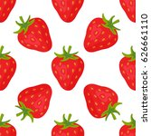 cartoon fresh strawberry fruits ... | Shutterstock .eps vector #626661110