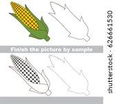 drawing worksheet for preschool ... | Shutterstock .eps vector #626661530