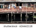 life in the slums of bangkok... | Shutterstock . vector #626662118