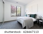 designer styled bedroom with...   Shutterstock . vector #626667113