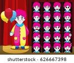 clown balloon girl costume... | Shutterstock .eps vector #626667398