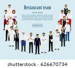 restaurant team. group of... | Shutterstock .eps vector #626670734