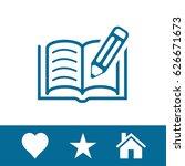 book pen icon | Shutterstock .eps vector #626671673