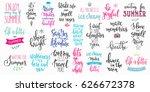 hello summer lettering... | Shutterstock .eps vector #626672378