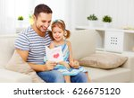 father's day. happy family... | Shutterstock . vector #626675120