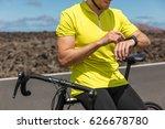 biking athlete cyclist using an ... | Shutterstock . vector #626678780
