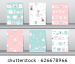 set of seamless patterns with...   Shutterstock .eps vector #626678966