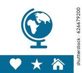 earth globe icon stock vector... | Shutterstock .eps vector #626679200