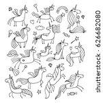 magic unicorns design for... | Shutterstock .eps vector #626682080