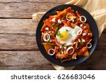 mexican nachos with tomato... | Shutterstock . vector #626683046