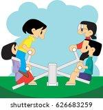 seesaw | Shutterstock .eps vector #626683259