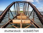 Old Rusty Bridge With Rivets