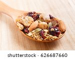close up granola or muesli in... | Shutterstock . vector #626687660