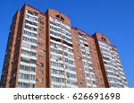a 17 story two porch brick... | Shutterstock . vector #626691698