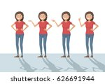 woman funny cartoon casual in...   Shutterstock .eps vector #626691944