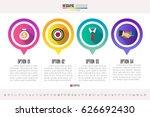 infographics design template  ... | Shutterstock .eps vector #626692430