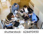 group of business people having ... | Shutterstock . vector #626693450