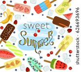 restaurant menu template of... | Shutterstock .eps vector #626693696