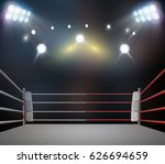 boxing ring with illumination... | Shutterstock . vector #626694659