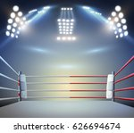 boxing ring with illumination... | Shutterstock . vector #626694674