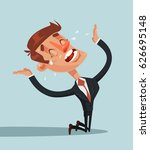 sad unhappy screaming and... | Shutterstock .eps vector #626695148