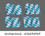 3d flag set of bavarian ....   Shutterstock .eps vector #626696969