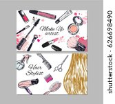 make up artist and hair stylist ... | Shutterstock .eps vector #626698490