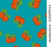 seamless pattern of persimmon   ... | Shutterstock .eps vector #626699414