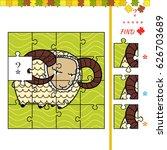 find missing piece for children ... | Shutterstock .eps vector #626703689